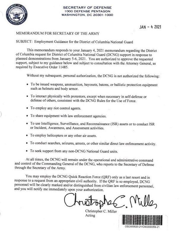 .@BennieGThompson @RepZoeLofgren @RepAdamSchiff   #TRUMP prevented readiness. He sent this on JANUARY 4th.  He sabotaged the Capital police and DC Natl Guard.   #subpoenaMiller #SubpoenaThemAll #SubpoenaBannon #SubpoenaMcCarthy #SubpoenaMoBrooks