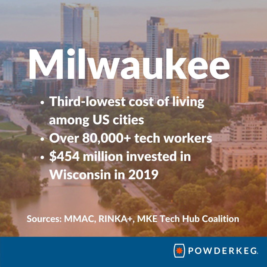 🙌 @PowderkegHQ for promoting the dynamic tech community here in Milwaukee and shining a national spotlight on the great things happening in #mketech!