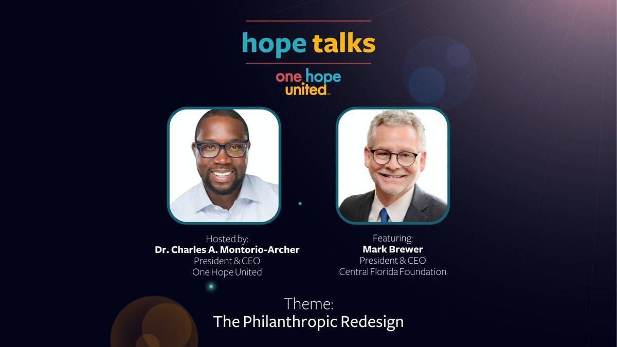 test Twitter Media - Our July episode of Hope Talks is live. In this episode, Charles is joined by Mark Brewer, President & CEO of the Central Florida Foundation.  View the episode: https://t.co/65e4nrU30e  @cffound #HopeTalks #Nonprofit #Philanthropy #Innovation #Community https://t.co/MZuVryFF63