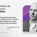 Image for the Tweet beginning: Learn how the #HPPageWide press