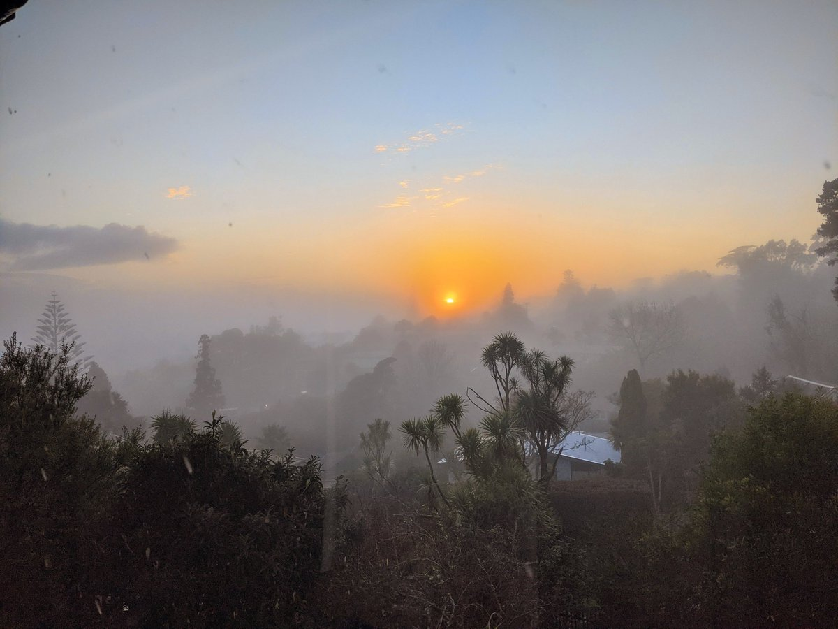 Foggy sunrise in Auckland this morning. ⛅