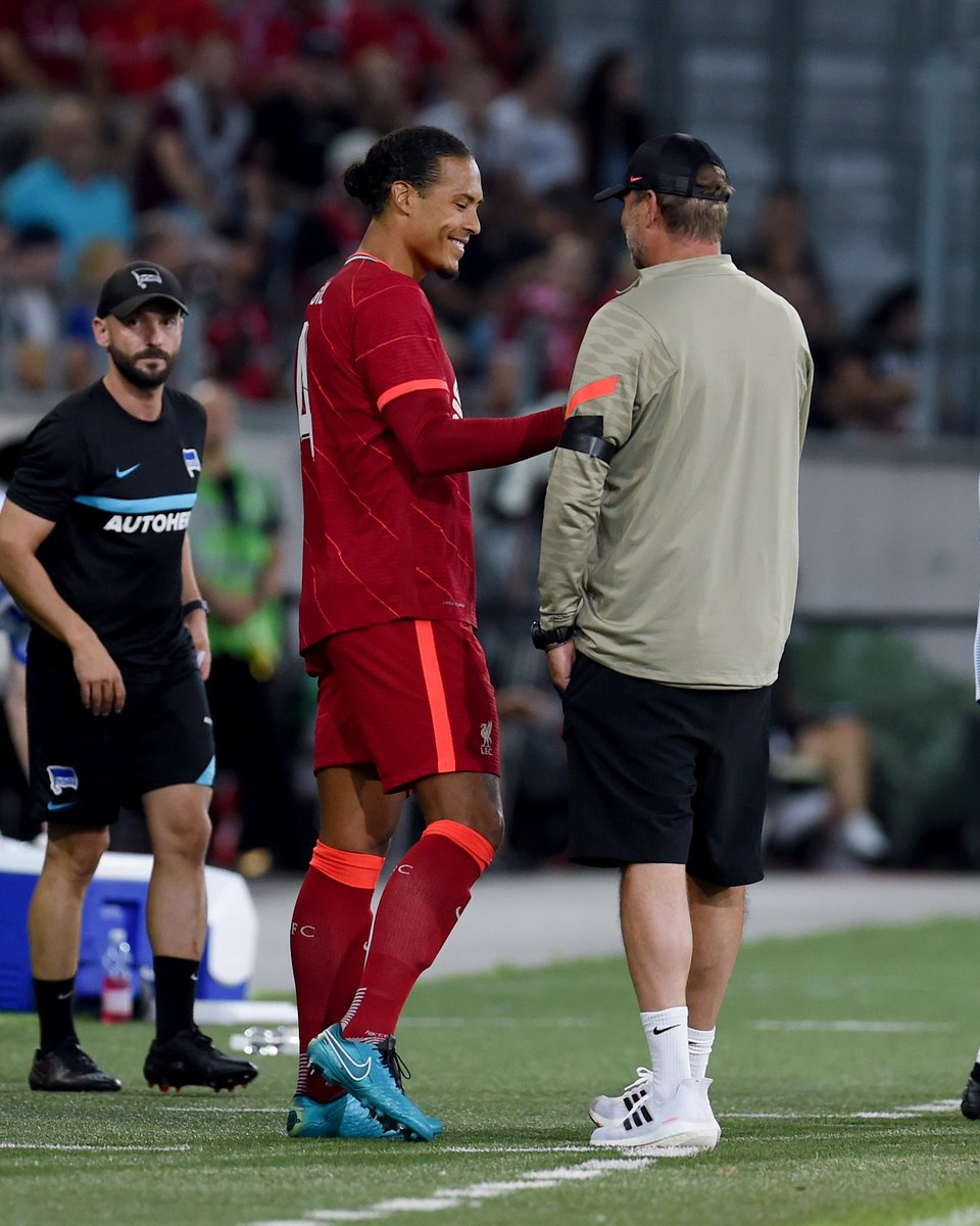 The smile says it all.  @VirgilvDijk ❤️