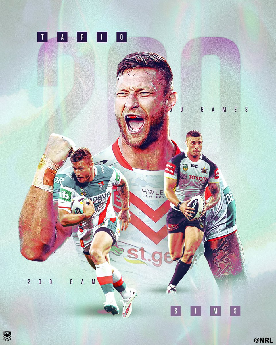Massive congrats legend!! @tariq_sims The hard work, sacrifice and setbacks you've been through, to get to 200 games is massive. Good luck tomorrow, lead the way 🙌🙌 #redv