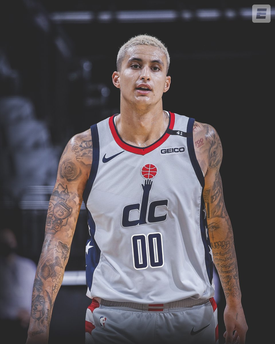 """ESPN on Twitter: """"KUZ TO THE DISTRICT! Kyle Kuzma, along with Kentavious  Caldwell-Pope and Montrezl Harrell and the No. 22 pick, has been traded to  the Wizards for Russell Westbrook, per @wojespn…"""