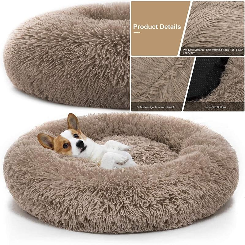 Pet Dog Bed Comfortable Donut Cuddler Round Dog Kennel Ultra Soft Washable Dog and Cat Cushion Bed Winter Warm Sofa hot sell    $41.36  #aromamoon #Pet #Dog #1429A54182XXL80CM  Brand Name:None Origin:CN(Origin) Wash Style:Mechanical Wash Feature:Breat...