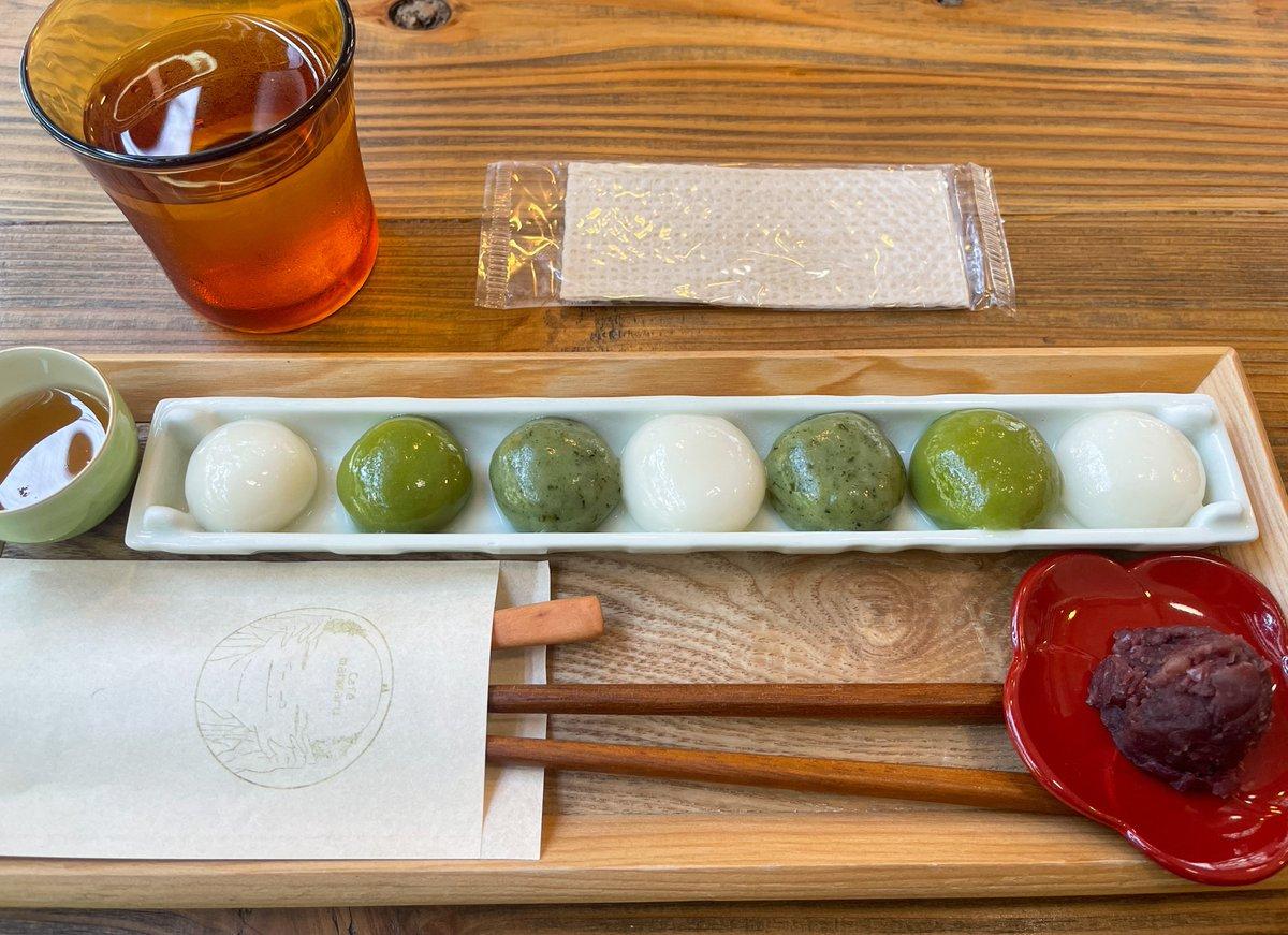 東京スカイツリー近くで食べられる?抹茶とよもぎのモチモチ白玉!