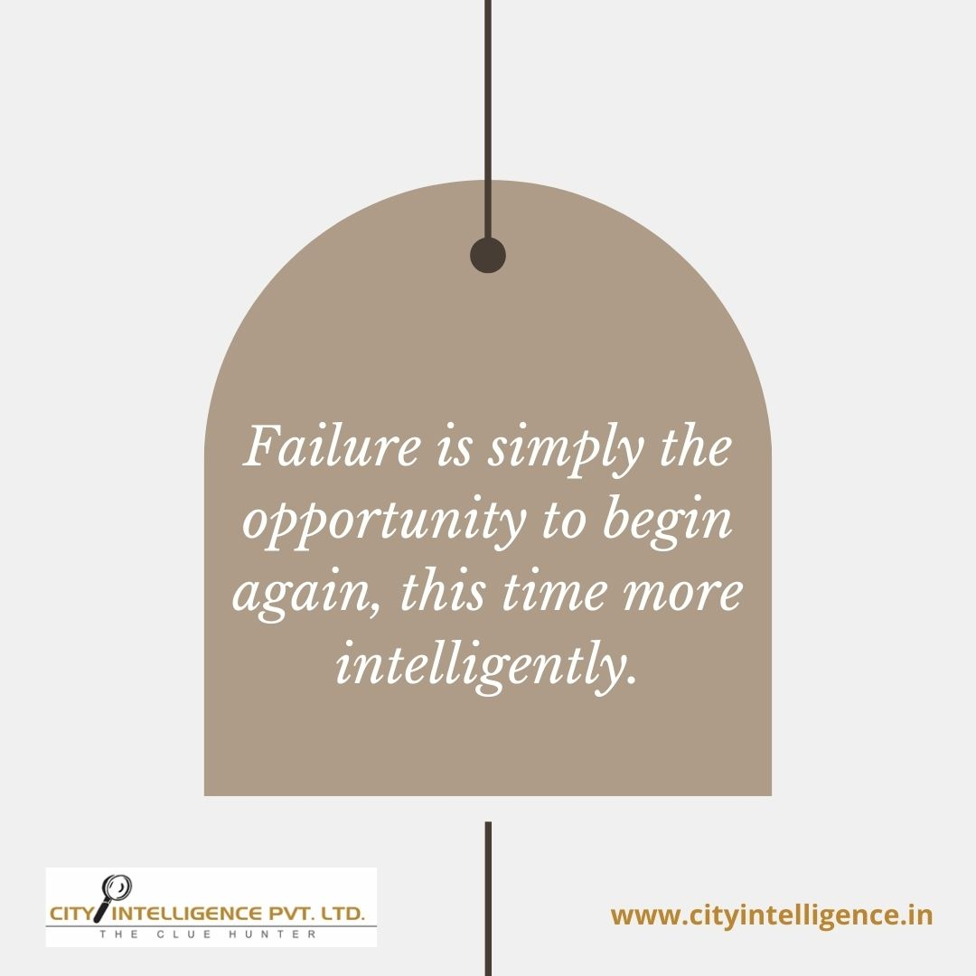 Failure is simply the opportunity to begin again, this time more intelligently.  #intelligence #love #knowledge #education #science #business #power #lie #motivation #truth #investigate  #Intelligencecity #life #investigator