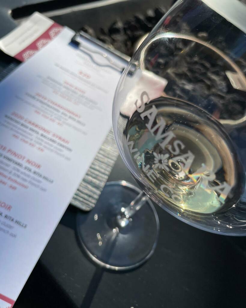 Starting the mini-trip right! Wine tasting at SamSara. 07.29.21 #picoftheday #goleta #santabarbara