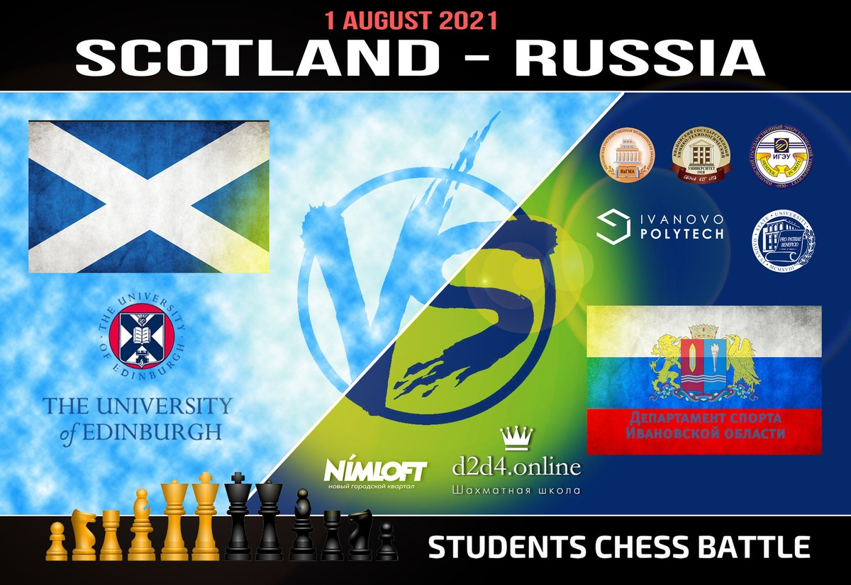 test Twitter Media - During the lockdowns of 2020, students from Russian city Ivanovo started to hold matches against students from around the world. A nice tradition is continued on August 1, this time against the University of Edinburgh. 25 students from each side will play 100 games on @lichess. https://t.co/QF1sK2uFl0