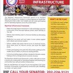 Image for the Tweet beginning: The Senate's bipartisan #Infrastructurebill will