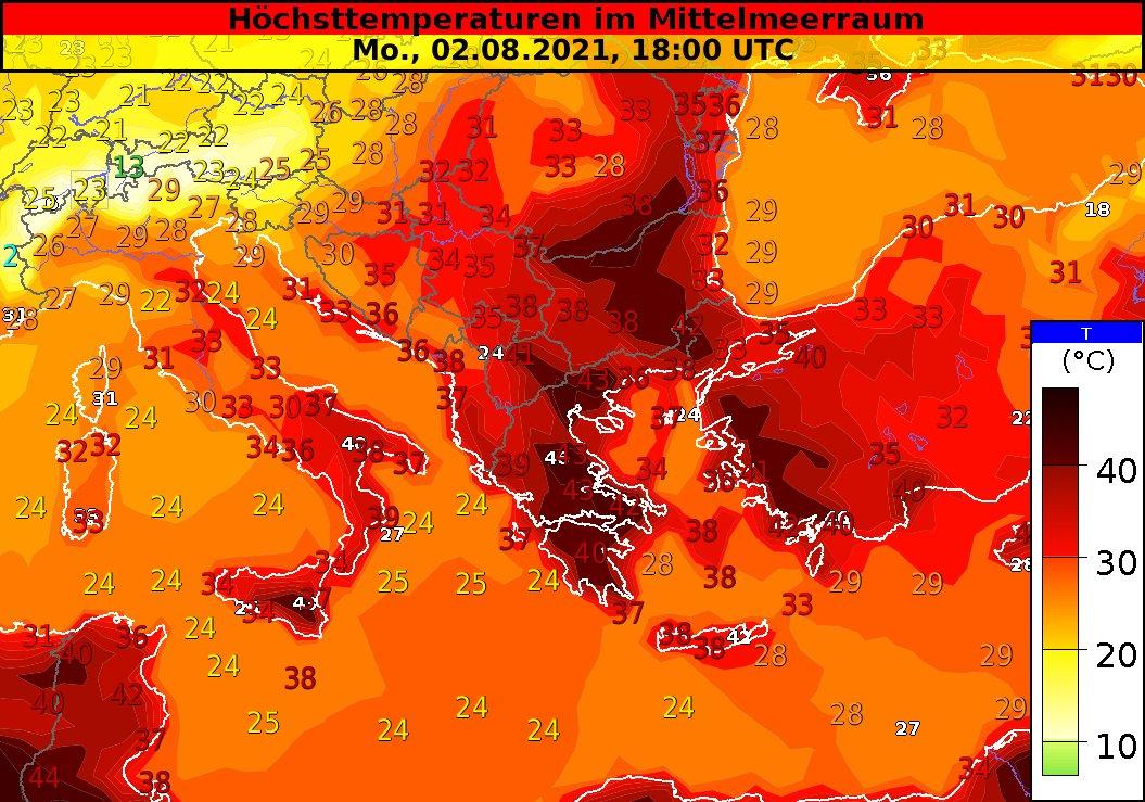 onda de calor na Europa