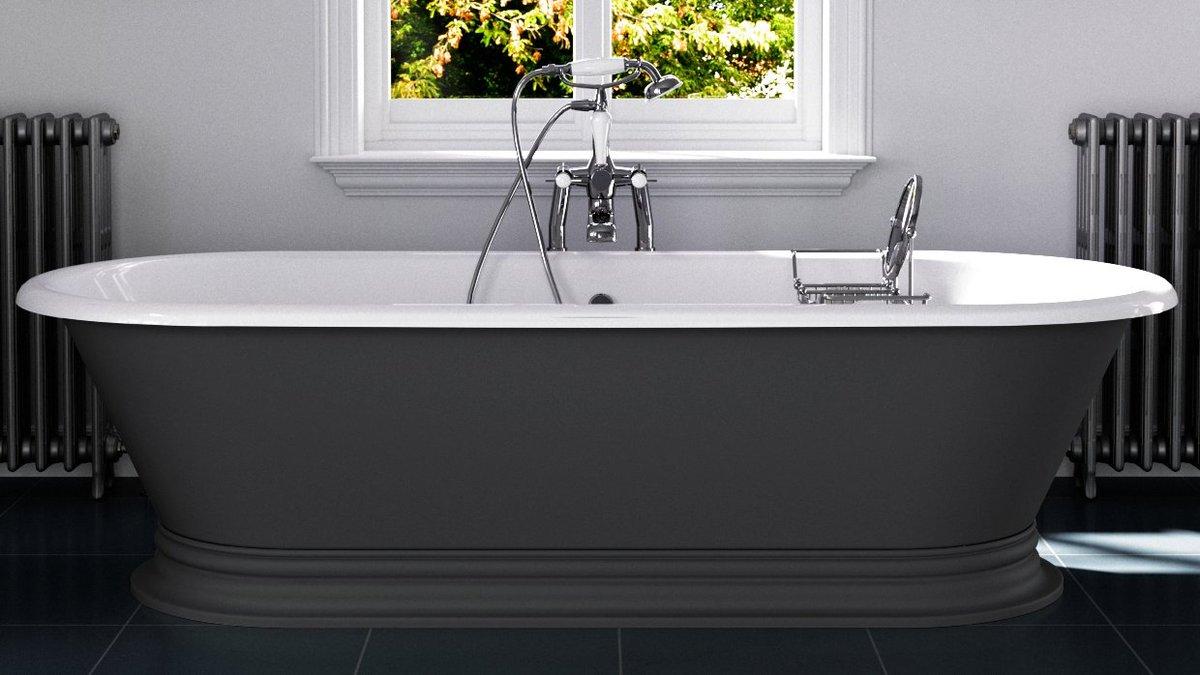 We are pleased to showcase our Shikara Cast Iron Bath, shown in Farrow & Ball Down Pipe. hurlinghambaths.co.uk/baths/cast-iro… #baths #castironbaths #bathrooms #bespokebaths #interiordesigns #homerenovations #homeimprovements #bathroomdesigns #hurlinghambathrooms #expert