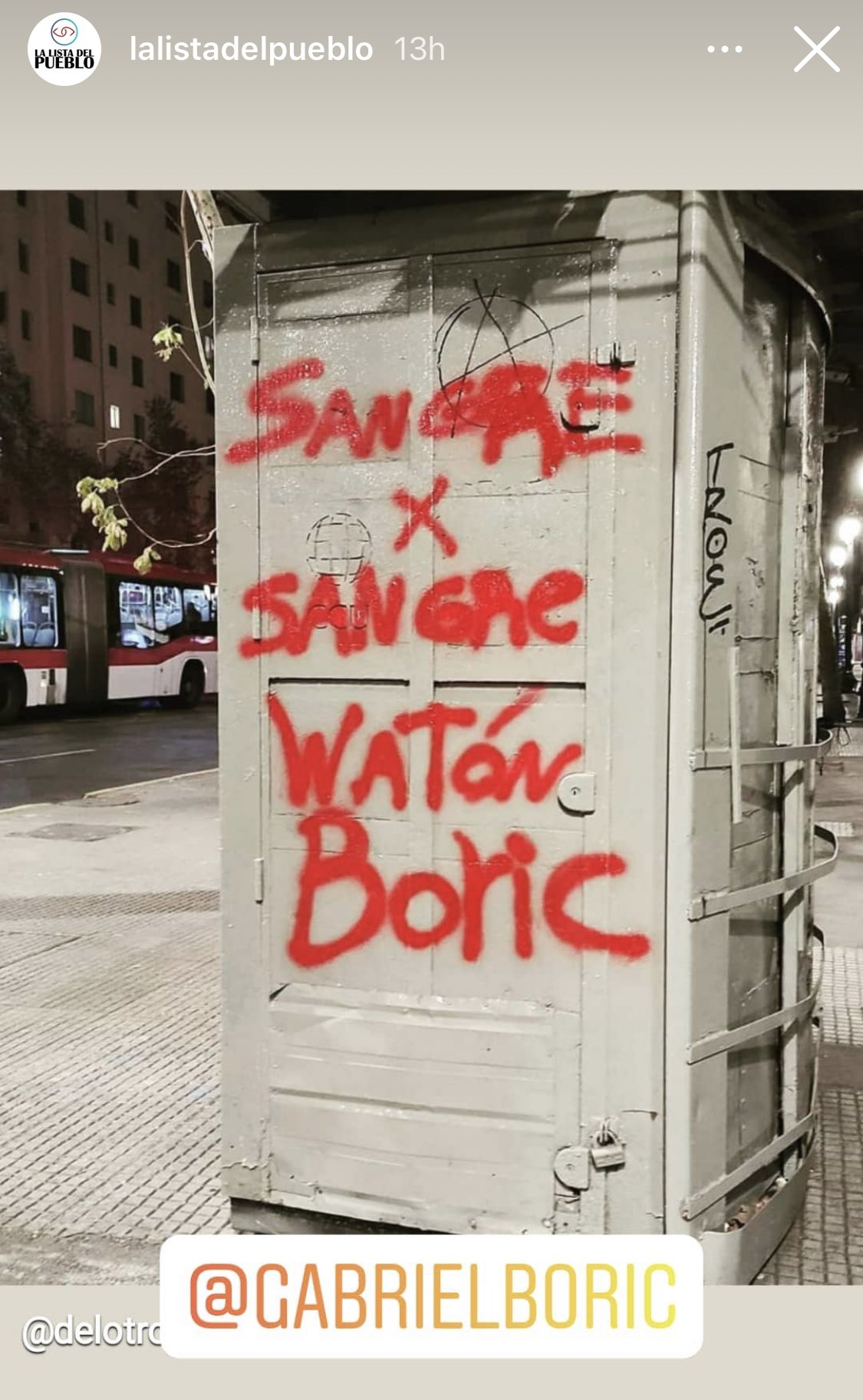 La Lista del Pueblo sigue incitando a la violencia contra Gabriel Boric.