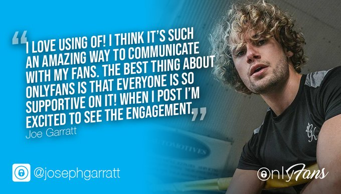 """""""I love using OF! I think it's such an amazing way to communicate with my fans."""" 💯 Love Island star @josephgarratt1"""