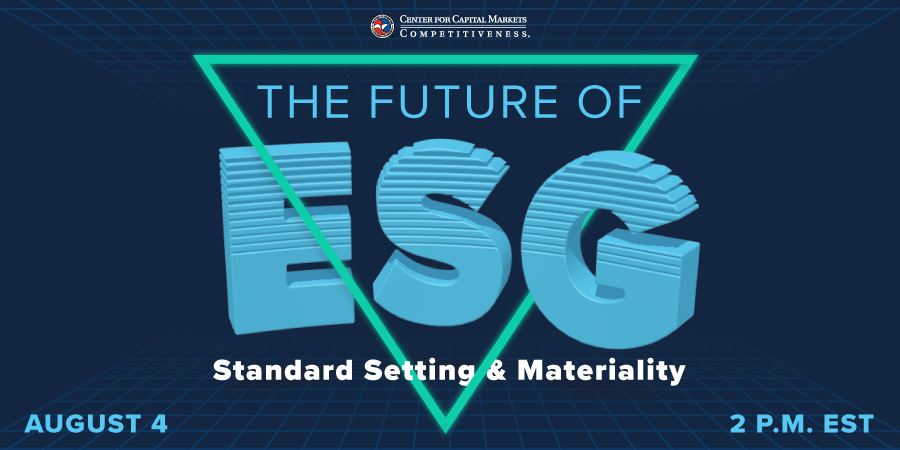 test Twitter Media - Join us on Aug 4th, for the Future of ESG: Standard Setting and Materiality. We'll explore the current landscape of standard setting, as well as what considerations the SEC might factor into rulemaking on mandatory ESG-related disclosures. Register Here: https://t.co/ogKYzWa7jF https://t.co/CjGKhDdsIk