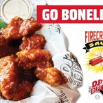 Feeling SAUCY? DJ's amazing Boneless Wings tossed in our delicious NEW Firecracker Sauce are the answer! Stop in & enjoy. 😋