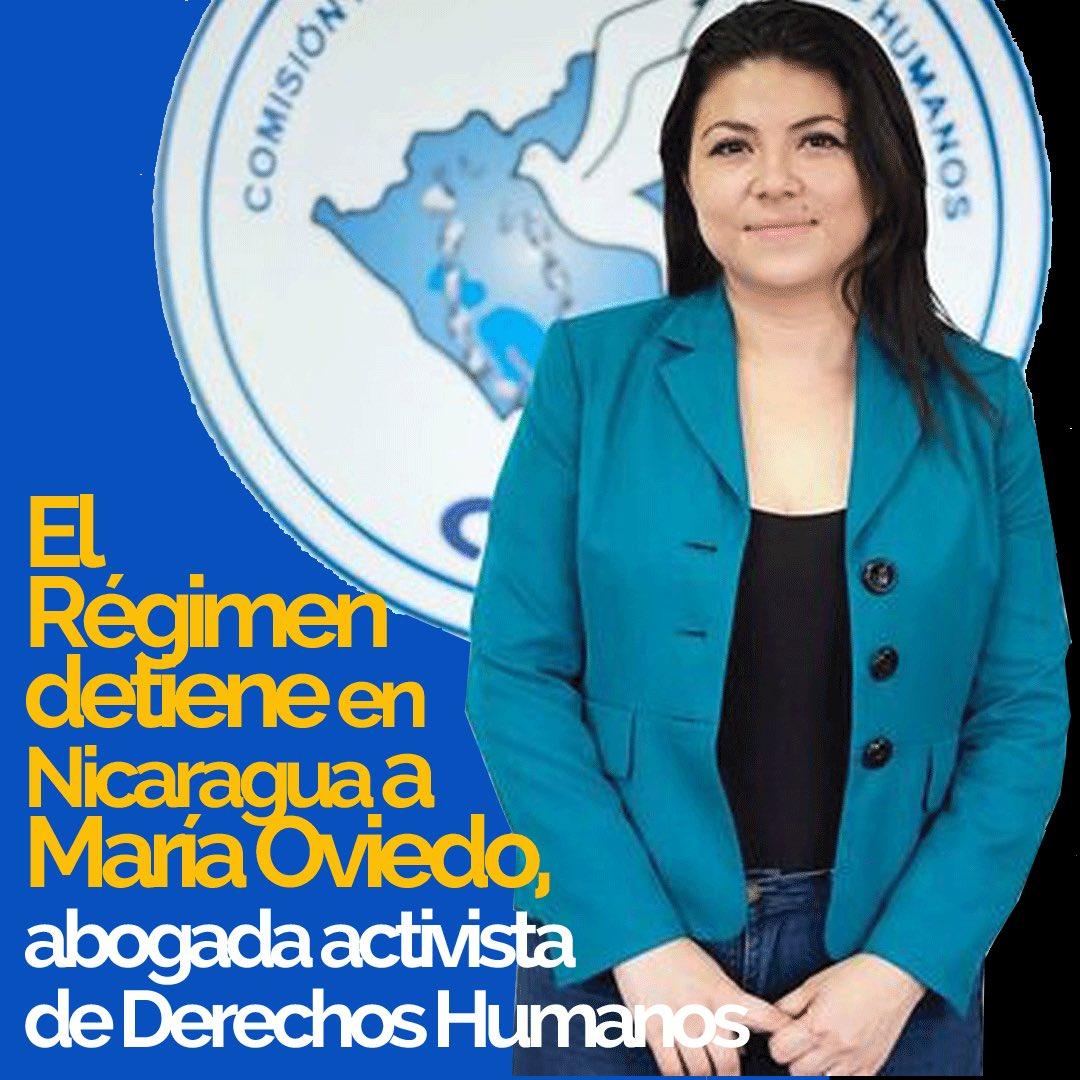 """CADAL on Twitter: """"Policía de #Nicaragua detuvo a la abogada defensora de  #DerechosHumanos María Oviedo y la trasladó a la Dirección de Auxilio  Judicial El Chipote, ubicada en Managua. Pedimos se respeten"""
