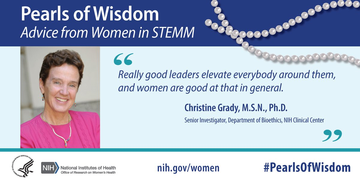 The @NIHClinicalCntr's Bioethics Chief Dr. Grady share's some #PearlsOfWisdom about the qualities of a good leader. https://t.co/AjF2YYH2yE.