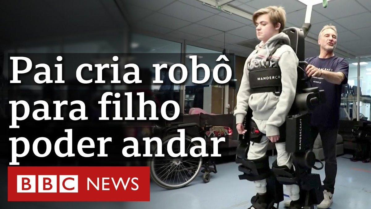 Pai cria robô exoesqueleto para filho com paralisia poder andar https://t.co/BsGREmmBSk https://t.co/RzAPbz2jo8