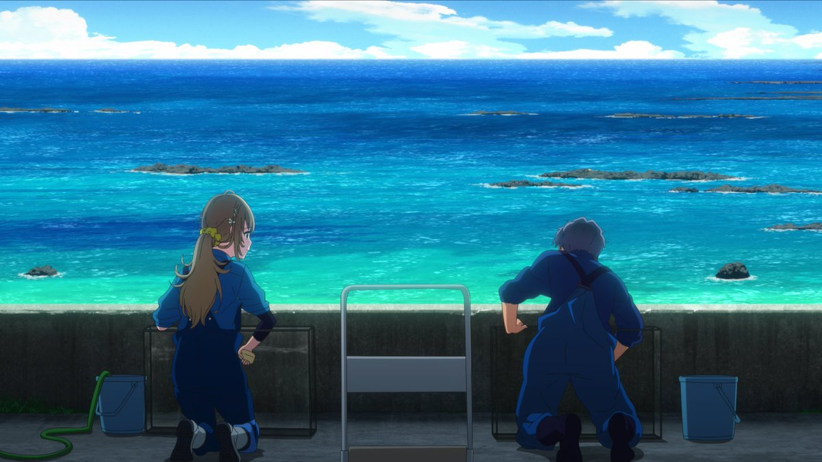 Shiroi Suna no Aquatope Fuuka beautiful ocean views anime