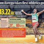 Image for the Tweet beginning: Ethiopia's #SelemonBarega won the first