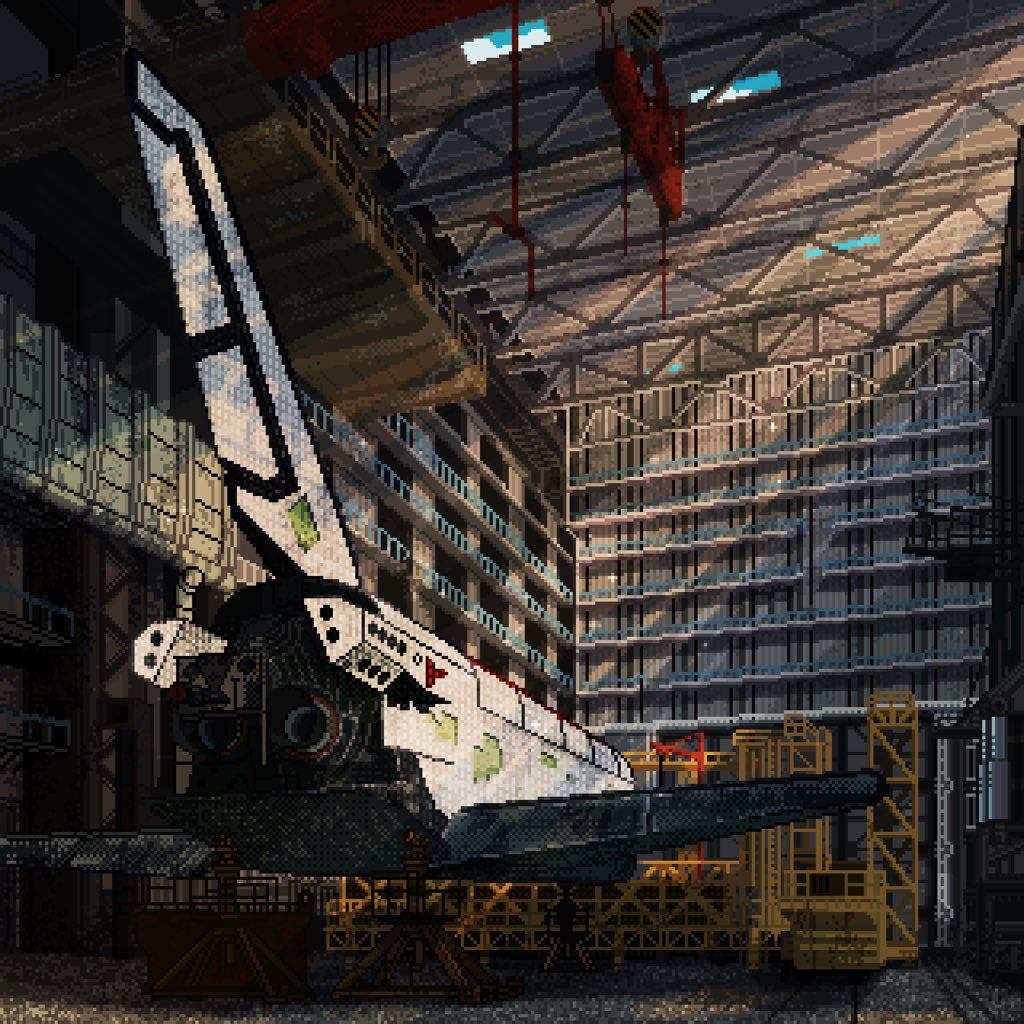 RT @zlohlednihcs: Abandoned Shuttle #Space #SpaceX #pixelart #aviation #abandonedplaces #spaceship #ドット絵 https://t.co/3x14y0QVHS