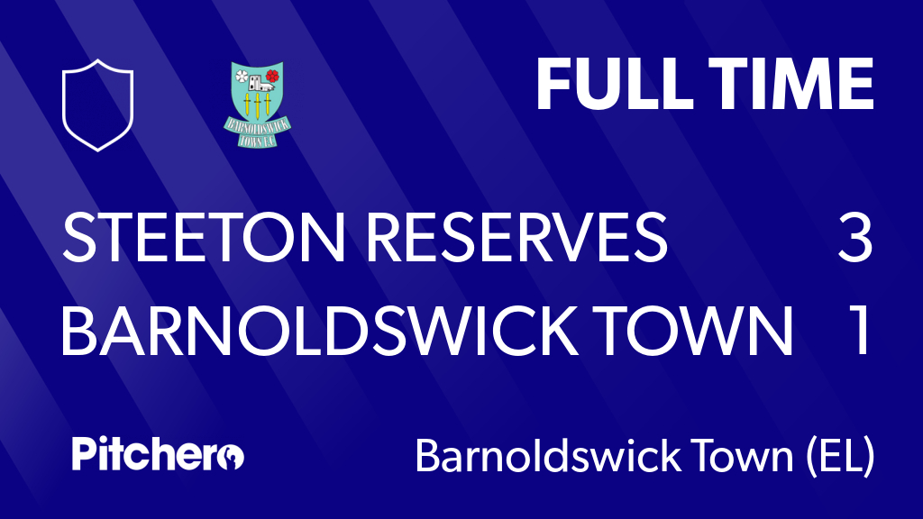 FULL TIME: Steeton Reserves 3 - 1 Barnoldswick Town Football Club #STEBAR #Pitchero https://t.co/EzV8UltWXh https://t.co/rI2gICf7Pd
