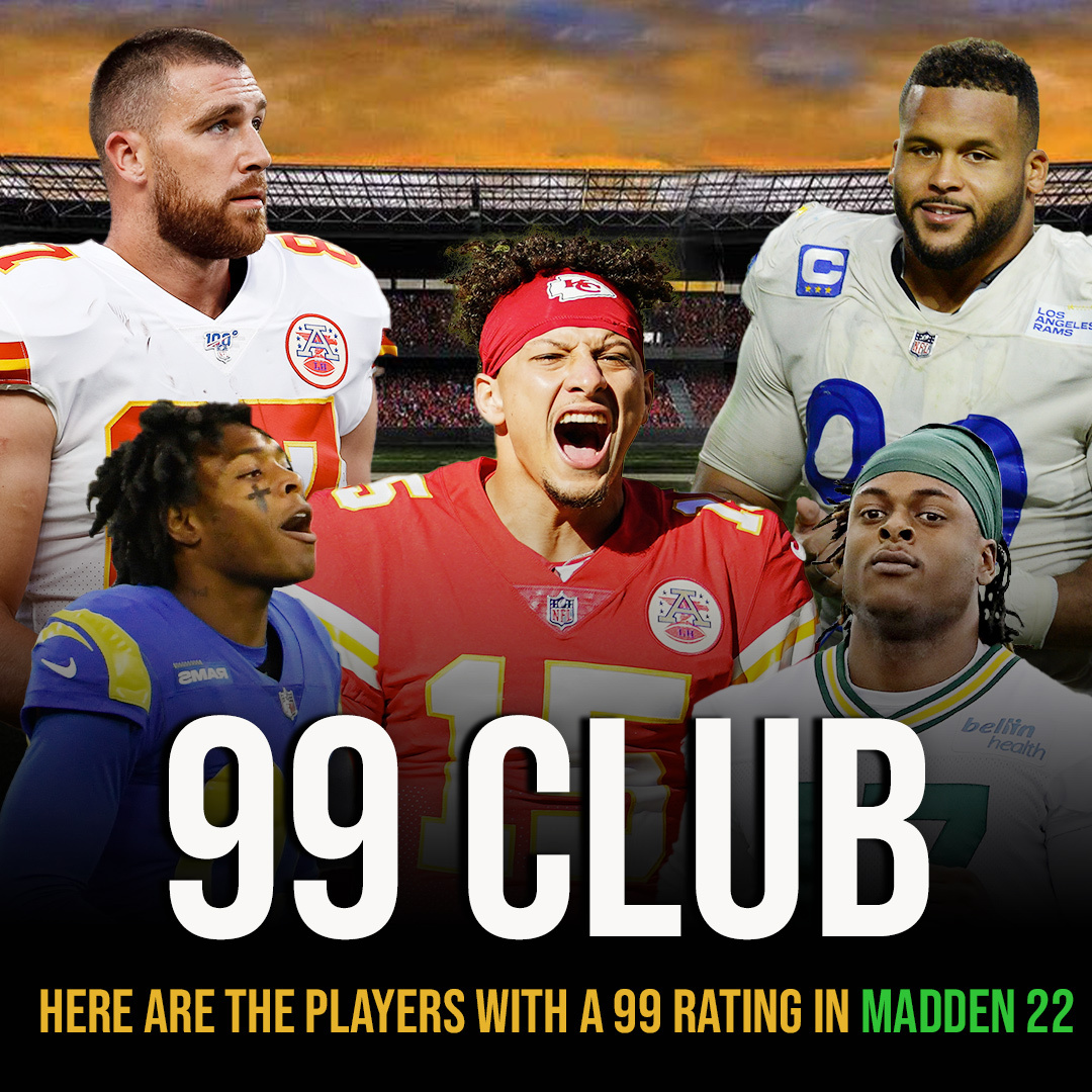 The most ELITE club in sports gaming 🎮  #PatMahomes | #JalenRamsey | #TravisKelce | #AaronDonald | #DavanteAdams https://t.co/DRd29NnqbB