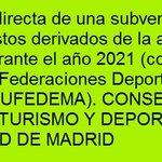 Image for the Tweet beginning: #España gastos actividad federada convenio