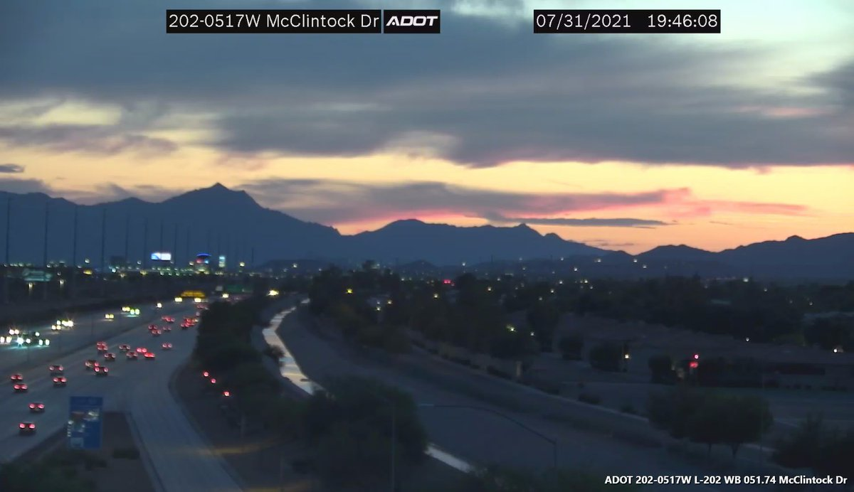 Image posted in Tweet made by Arizona DOT on August 1, 2021, 2:46 am UTC
