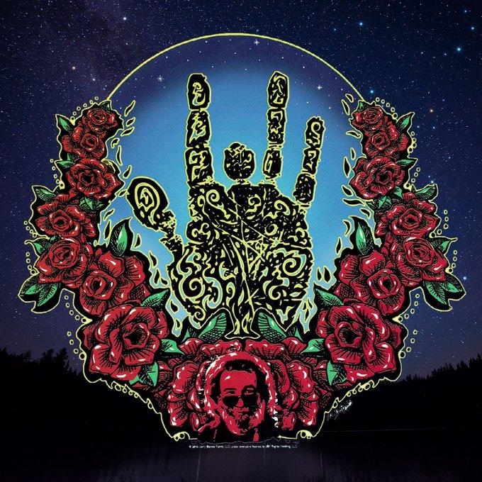 Happy Birthday Jerry! Jerry Garcia Hand Sticker