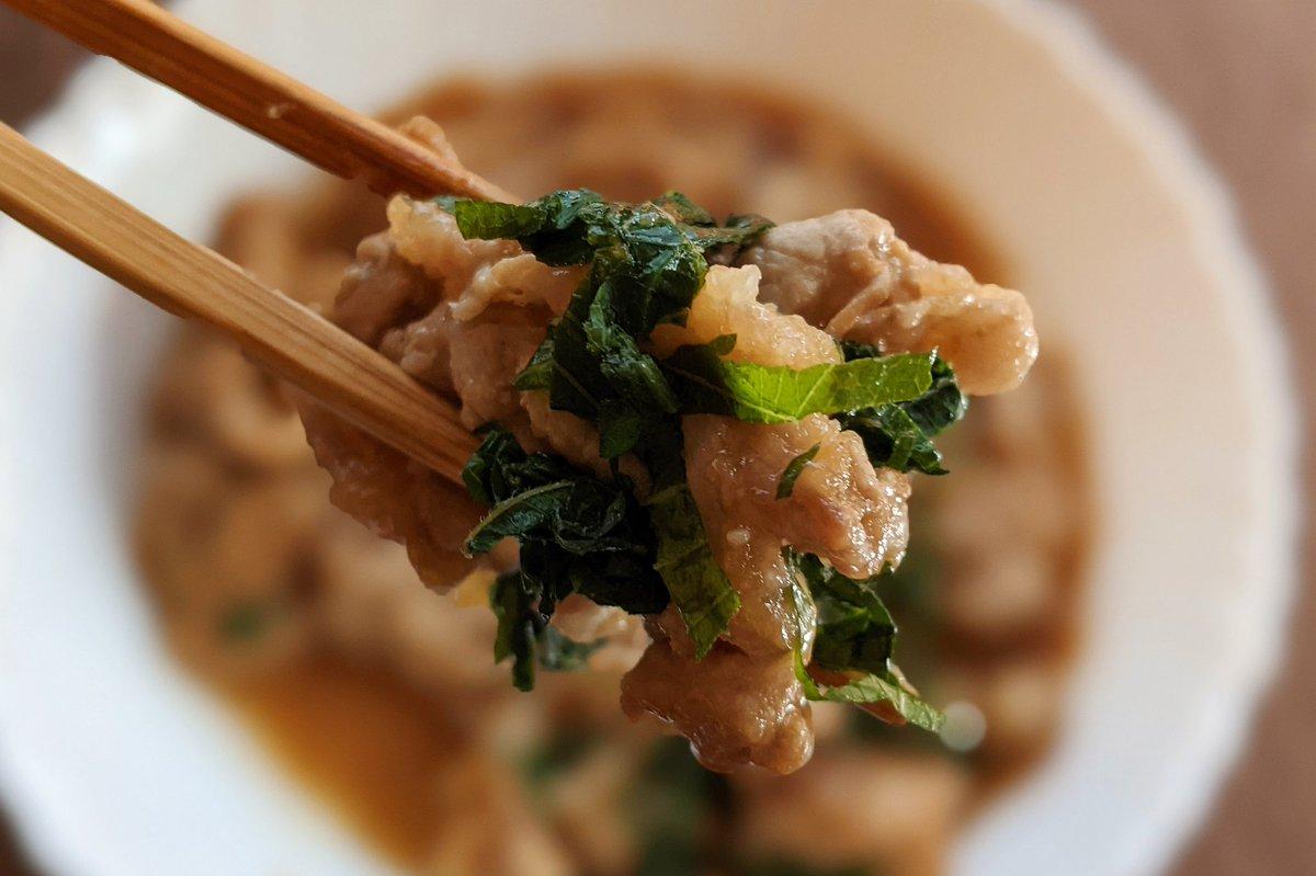 簡単で美味しい!極旨の豚肉と大葉のみぞれ煮が夏にぴったり!