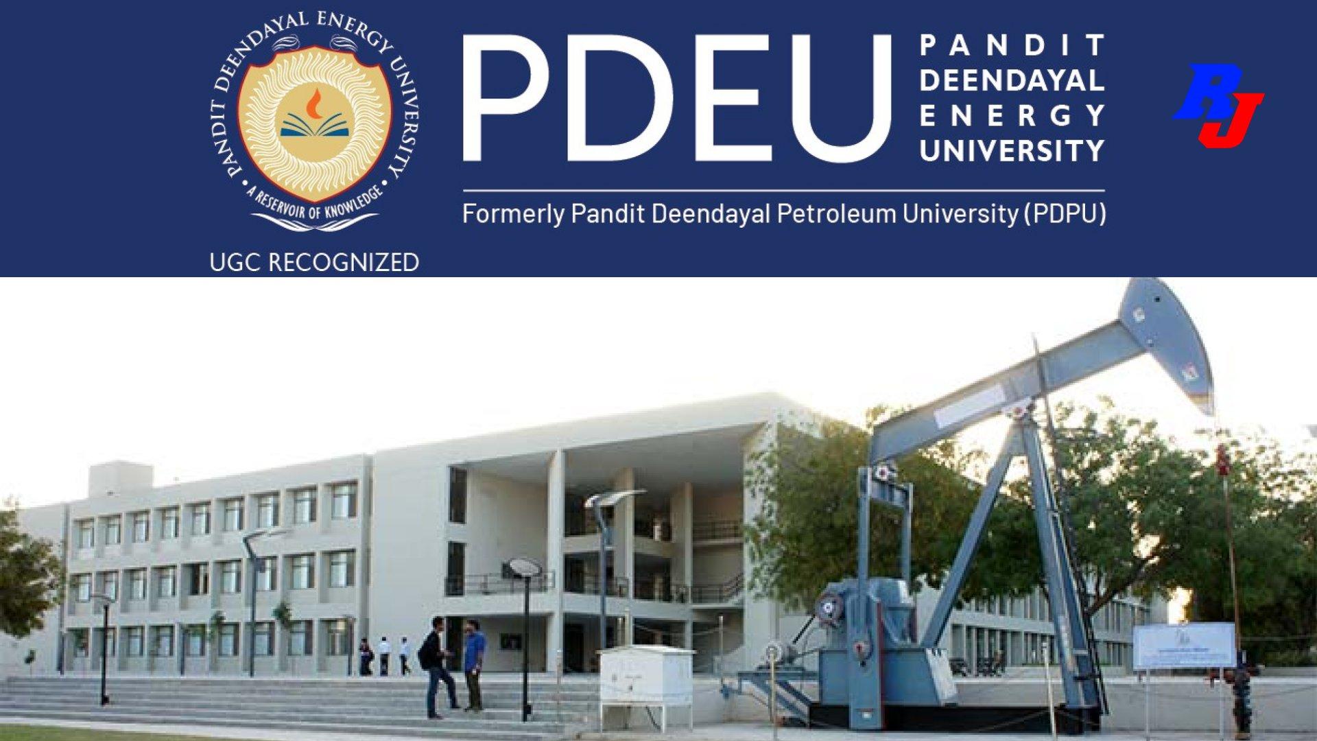 Research Associate Position in PDEU, Pandit Deendayal Energy University, Gujarat, India