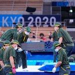 金メダル級の活躍!?クロネコヤマトが世界基準の速さで体操競技会場の表彰式を設営!