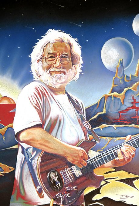 Happy Birthday,Jerry Garcia. Legend never forget on this 1st day of August. Drawing by Joshua Morton