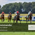 Our third race at @ThirskRaces was the Laura Barry Memorial EBF Novice Stakes, won by Danny Tudhope on King's Commander for Mrs S Holtby and @omeararacing!