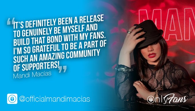 """""""It's definitely been a release to genuinely be myself and build that bond with my fans."""" ❤️✨ @mandi_macias"""