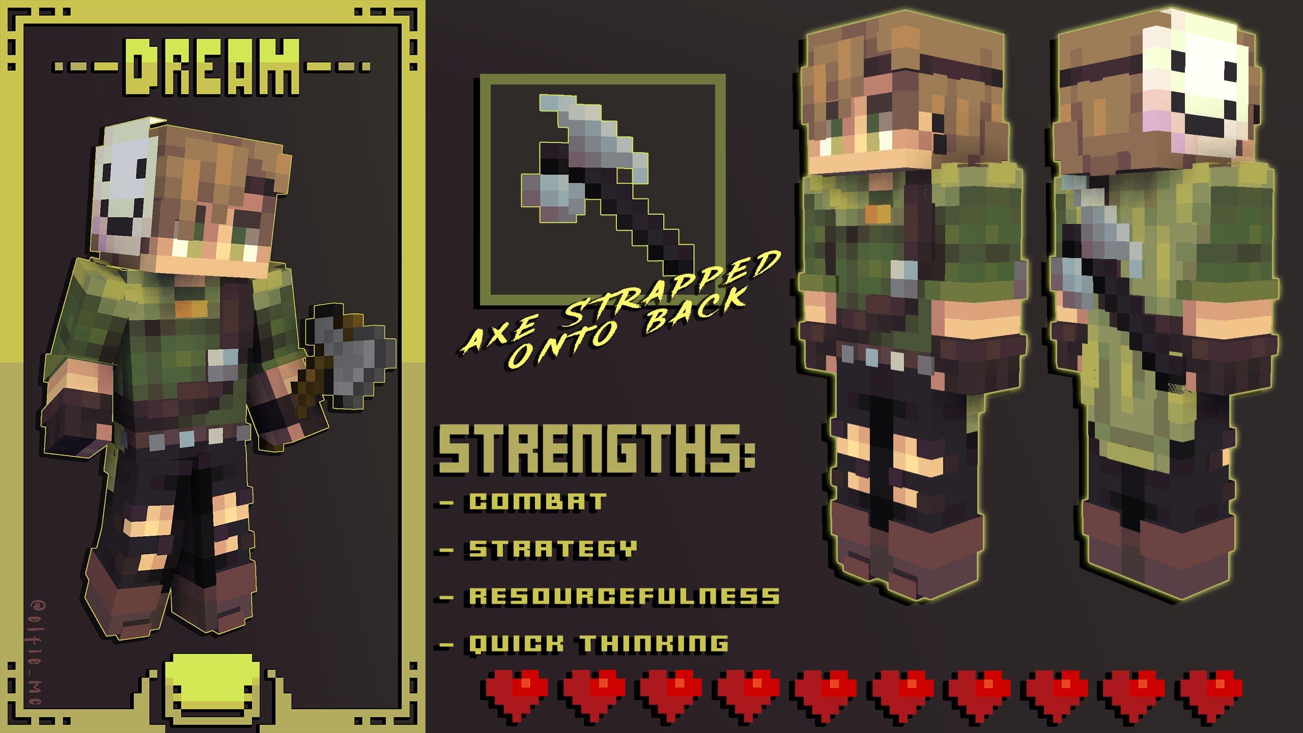 𝘿𝙧𝙚𝙖𝙢 // Manhunt Skins Series, #6 of 6 Minecraft Skin