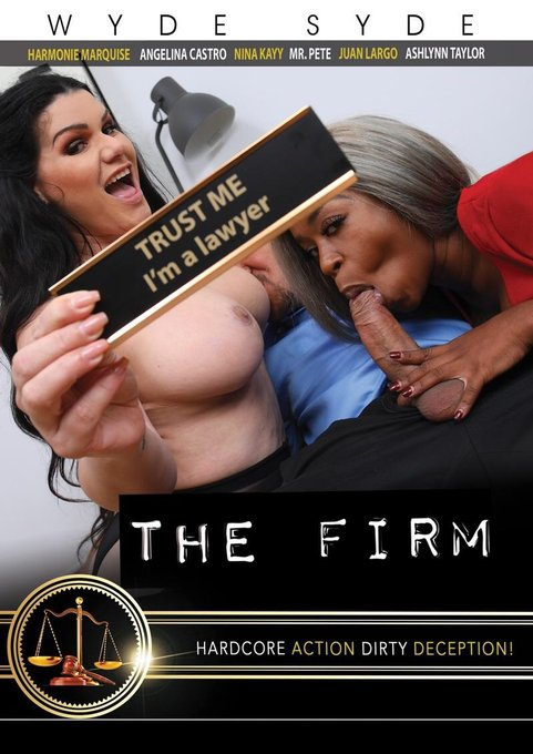 """👩⚖️Naughty lawyers are on the case in """"The Firm,"""" a @wyde_syde #DVD! 📀 Angelina Castro,Harmonie Marquise"""