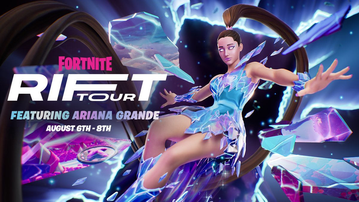 Image for the Tweet beginning: Excuse us, Ariana is coming! Fortnite
