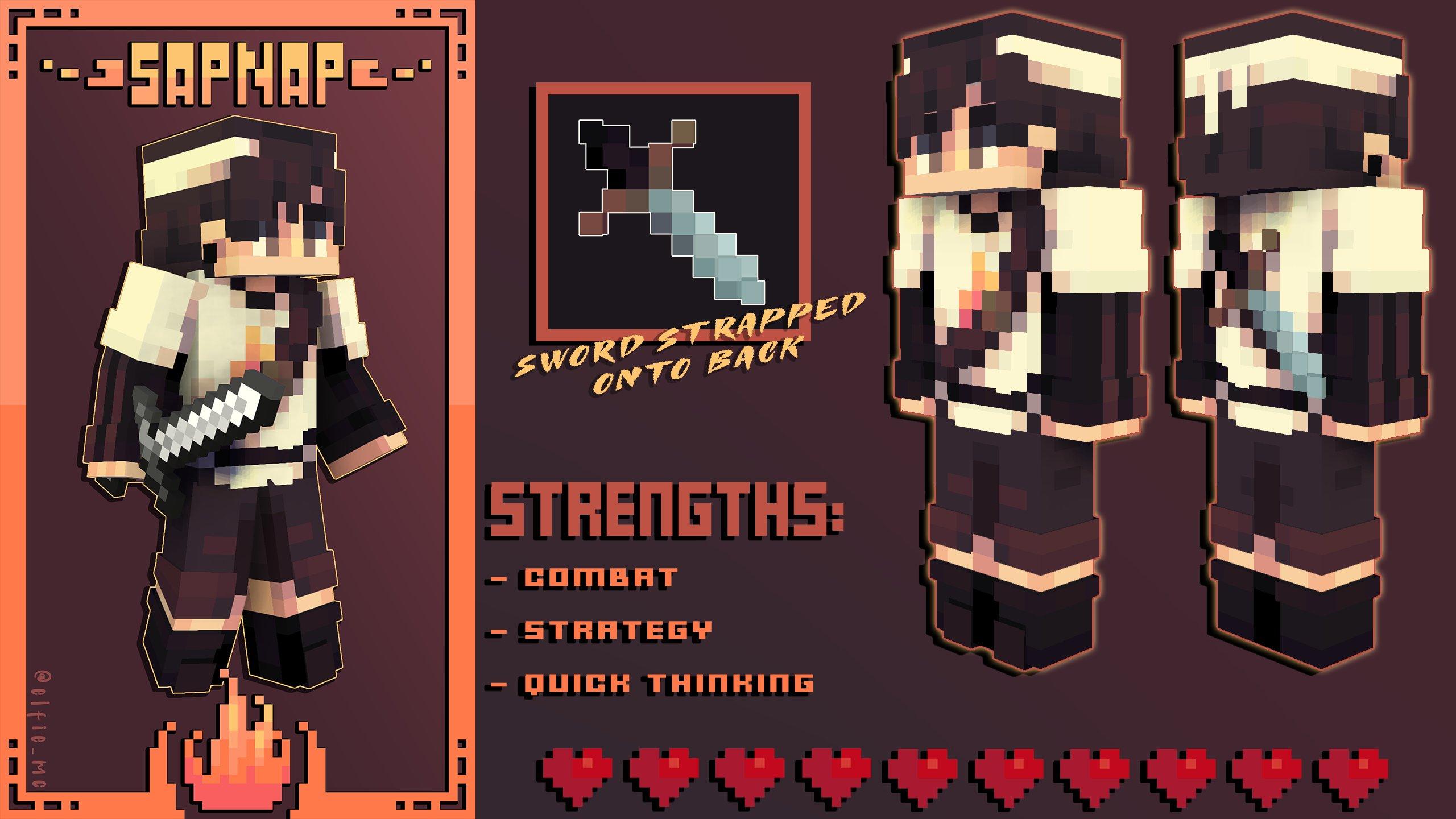 𝙎𝙖𝙥𝙣𝙖𝙥 // Manhunt Skins Series, #4 of 6 Minecraft Skin