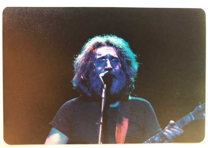 Happy Jerry Garcia\s Birthday! Photo from the Palace Theatre, Albany, New York, c. 1980