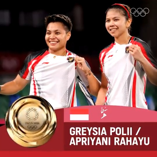 A historical win!  Greysia Polii and Apriyani Rahayu secure #INA's first ever #Badminton women's doubles Olympic gold - and the nation's first of #Tokyo2020.  @bwfmedia @nocindonesia1 https://t.co/F0HDisviLI