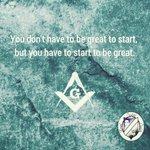 Image for the Tweet beginning: Start today!! #start #mondaythoughts #MondayMorning #freemason