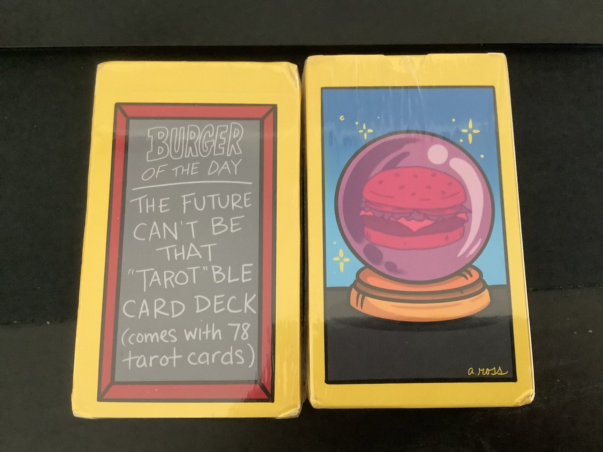 test Twitter Media - Yay! The Bob's Burgers tarot card deck(s) I ordered from @The_CuddleCult just arrived! One deck for me, one for my homie who's also a massive fan of Bob's Burgers! 🍔❤️ https://t.co/2EnqiimfVO