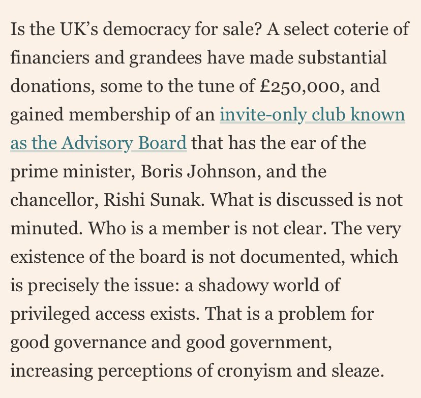 👇👏👏👏 well done @FT for shining a light on this stuff. They are right - this is bad for good government and good governance and Britain has always done better than this and we deserve better than this. https://t.co/UeuGjzpazi