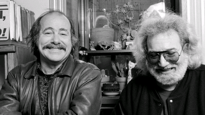 Happy Birthday Jerry Garcia (yesterday, 8/1): Performing With Robert Hunter In 1980