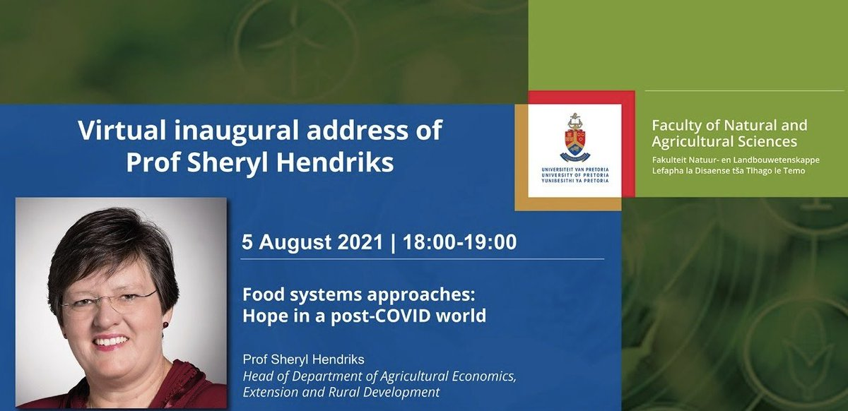 test Twitter Media - Prof. @SherylHendriks' virtual inaugural address for  @UPTuks Faculty of Natural and Agricultural Sciences will take place on 5 Aug. The event theme is 'Food systems approaches: Hope in a post-COVID world'.   Link to follow the event live: https://t.co/6jd40oNyL1 https://t.co/p1d6Cu4gjs