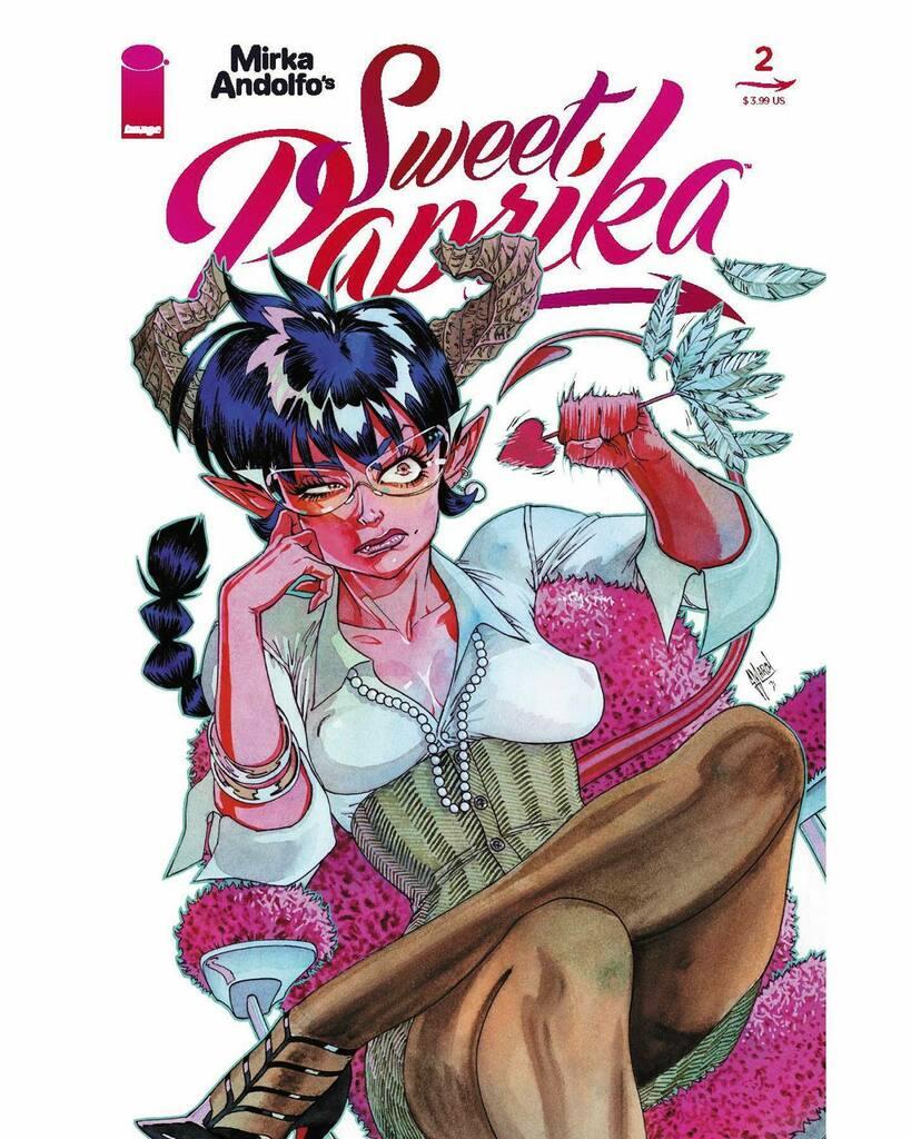 I made a #cover for @mirkand89 Mirka Andolfo's series Sweet Paprika! @ImageComics #comicbooks #Sweetpaprika instagr.am/p/CSFFiLfsZSp/