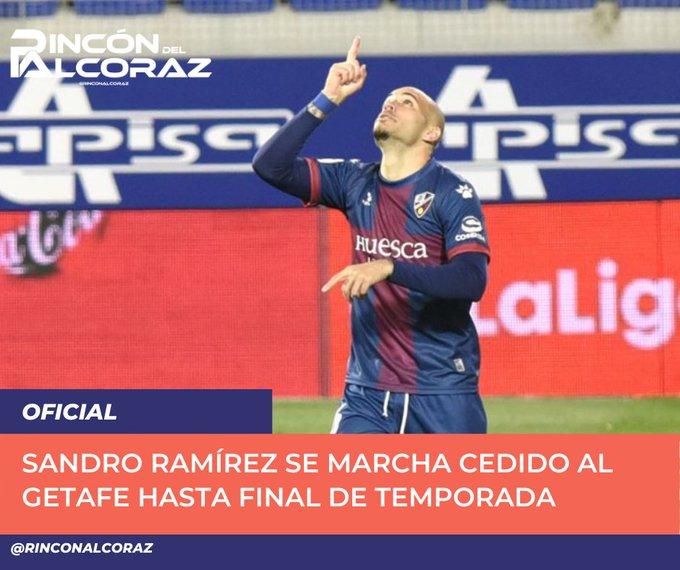 🔴 OFICIAL   La  cede a Sandro Ramírez al Getafe hasta final de temporada. No especifican si ....